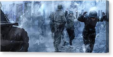 Infantryman Canvas Print - Second World War 16 by Jani Heinonen