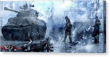 Infantryman Canvas Print - Second World War 23 by Jani Heinonen