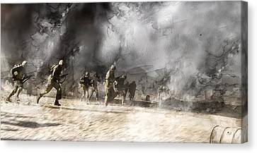 Infantryman Canvas Print - Second World War 305 by Jani Heinonen