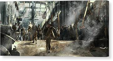 Infantryman Canvas Print - Second World War 3255 by Jani Heinonen
