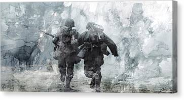 Infantryman Canvas Print - Second World War 49 by Jani Heinonen