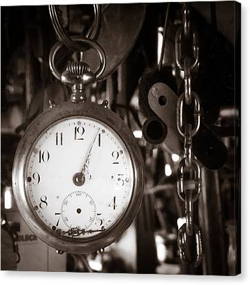 Canvas Print featuring the photograph Seconds Past by Chris Bordeleau