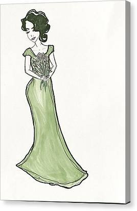 Updo Canvas Print - Secret Admirer  by Amanda Monroe