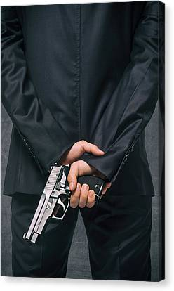 Secret Agent 4 Canvas Print by Carlos Caetano