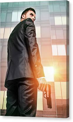 Gunman Canvas Print - Secret Agent 5 by Carlos Caetano