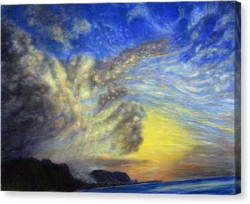 Secret Beach Sunset Canvas Print by Kenneth Grzesik