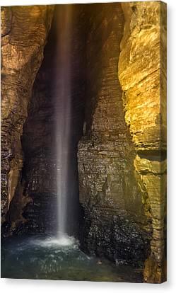 Secret Caverns Waterfall Canvas Print