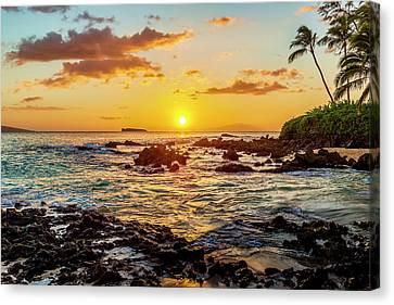Secret Cove Sunset Canvas Print