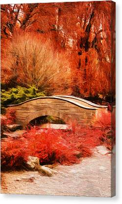 Secret Footbridge Canvas Print