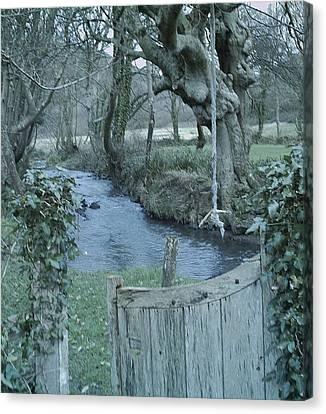 Gatepost Canvas Print - Secret Garden by Richard Brookes