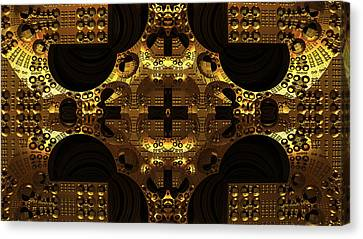 Secret Of The Golden Cross Canvas Print by Konstantinos Goytzamanis