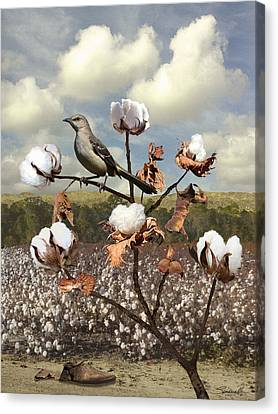Slaves Canvas Print - Secret Of The Mockingbird by Spadecaller