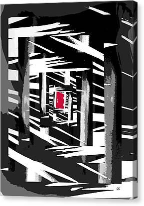 Secret Red Door Canvas Print by Gerlinde Keating - Galleria GK Keating Associates Inc