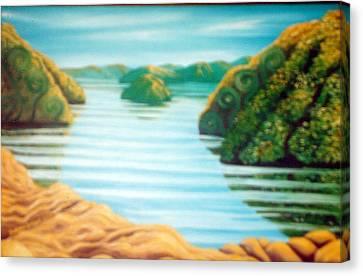 Secret Snapper Spot 5 Canvas Print by Barbara Stirrup