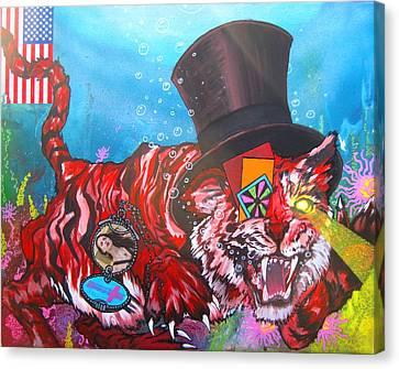 Secret Tigers Canvas Print