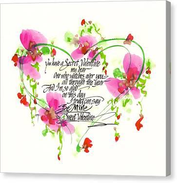 Secret Valentine Canvas Print