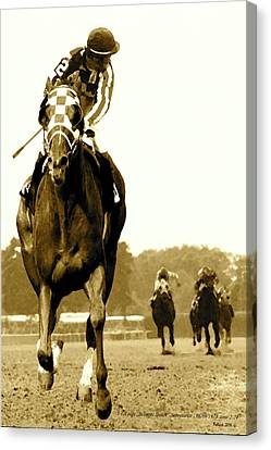 Secretariat Looking Back Belmont Stakes 1973 Canvas Print