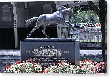 Canvas Print featuring the photograph Secretariat by  Newwwman