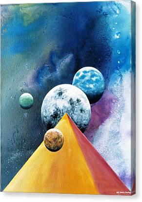 Secrets Of The Nile -luna Canvas Print by Lee Pantas