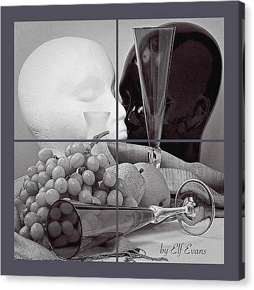 Canvas Print featuring the photograph Sections by Elf Evans
