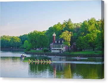 Philadelphia Phillies Canvas Print - Sedgeley Club - Boathouse Row by Bill Cannon