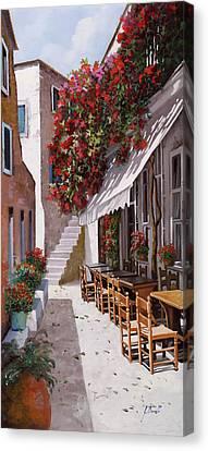 Sedie E Tavoli Canvas Print by Guido Borelli