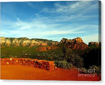 Sedona Airport Vortex Canvas Print by Marlene Rose Besso