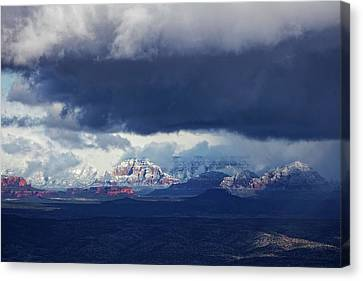 Canvas Print featuring the photograph Sedona Area Third Winter Storm by Ron Chilston