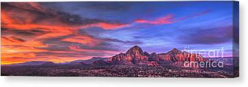 Sedona Arizona At Sunset Canvas Print by Eddie Yerkish