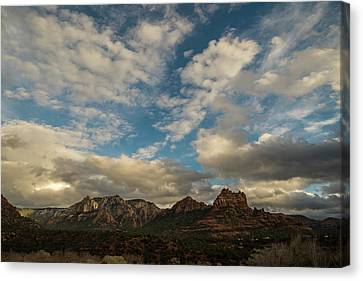 Canvas Print featuring the photograph Sedona Arizona Redrock Country Landscape Fx1 by David Haskett
