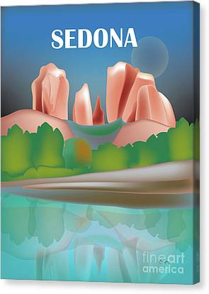Sedona, Arizona Vertical Scene Canvas Print