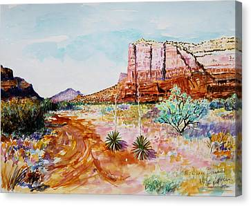 Sedona Bound Canvas Print by M Diane Bonaparte
