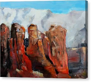 Sedona Coffee Pot Rock Painting Canvas Print