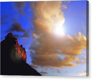 Sedona Mountain Cloud Sun Canvas Print