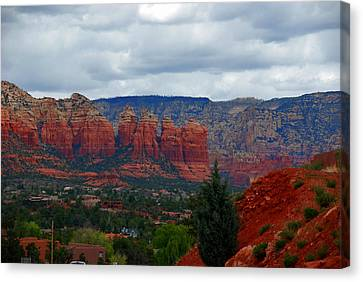 Sedona Mountains Canvas Print by Susanne Van Hulst