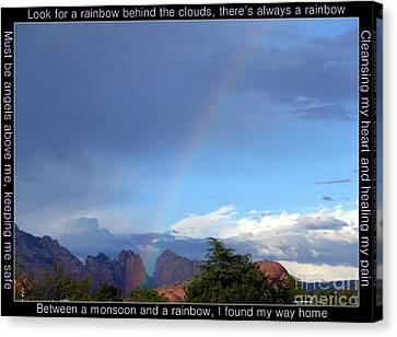 Sedona Rainbow Monsoon Canvas Print by Marlene Rose Besso