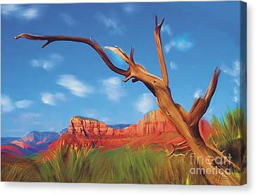 Sedona Red Rock Country Canvas Print by Bob Salo