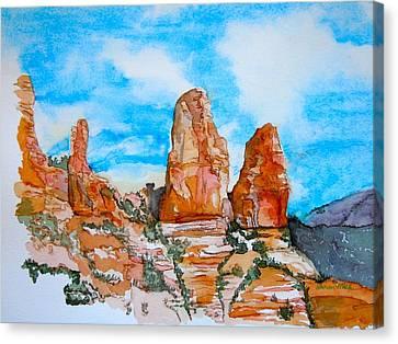 Sedona Red Rocks Canvas Print by Sharon Mick