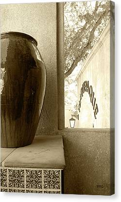 Canvas Print featuring the photograph Sedona Series - Jug And Window by Ben and Raisa Gertsberg