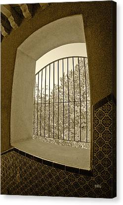 Canvas Print featuring the photograph Sedona Series - Through The Window by Ben and Raisa Gertsberg