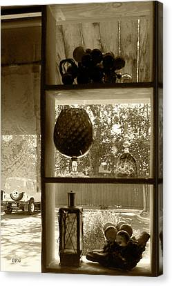 Canvas Print featuring the photograph Sedona Series - Window Display by Ben and Raisa Gertsberg