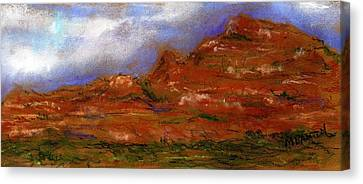 Canvas Print featuring the painting Sedona Storm Clouds by Marilyn Barton