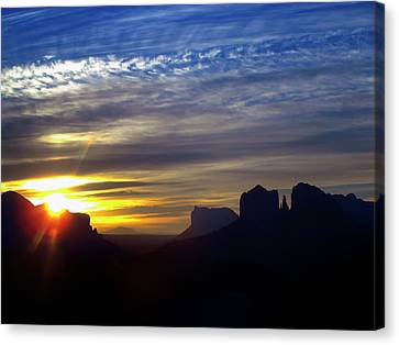 Sedona Sunrise Canvas Print by Stephen Campbell