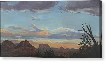 Sedona Sunset Az Canvas Print by Edward Williams