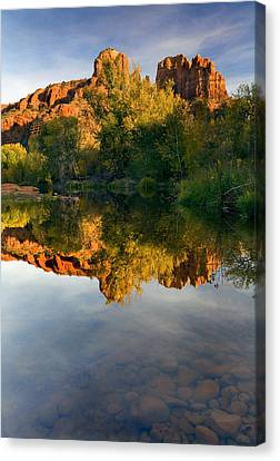 Reflection Canvas Print - Sedona Sunset by Mike  Dawson