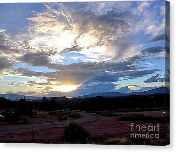 Sedona Sunset Sky Canvas Print by Marlene Rose Besso