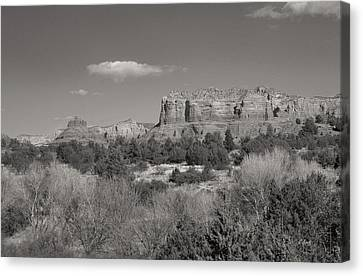 Sedona Winter Canvas Print by Gordon Beck