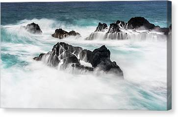 Canvas Print featuring the photograph Seduced By Waves by Jon Glaser