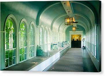 Seduction Of Architecture Canvas Print by Karen Wiles