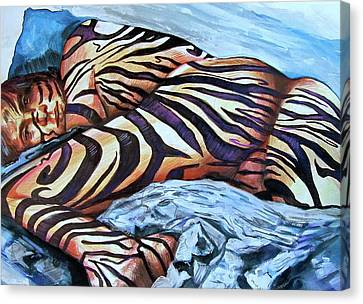 Seduction Of Stripes Canvas Print